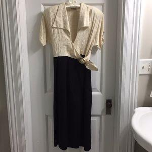 Branka Klarige vintage wrap dress 1990s silk